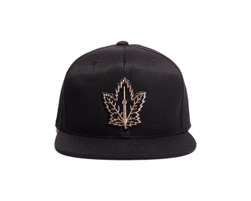 Toronto Champion Maple Leaf Snapback - Black - brimzofficial