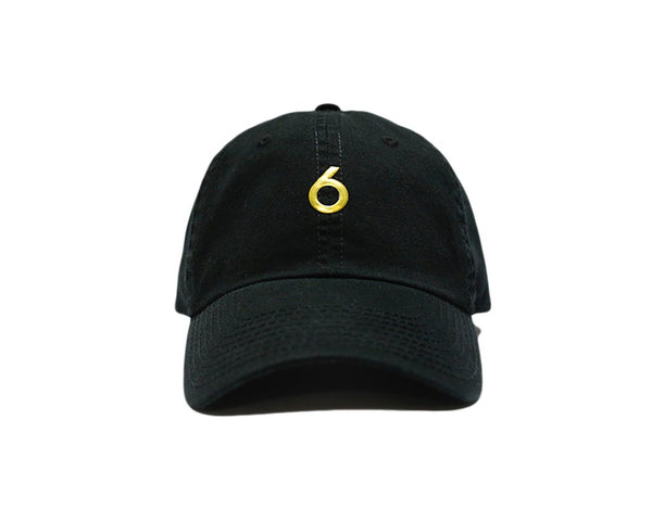 6ix Toronto Classic Cap Adjustable Strap - Black/Gold