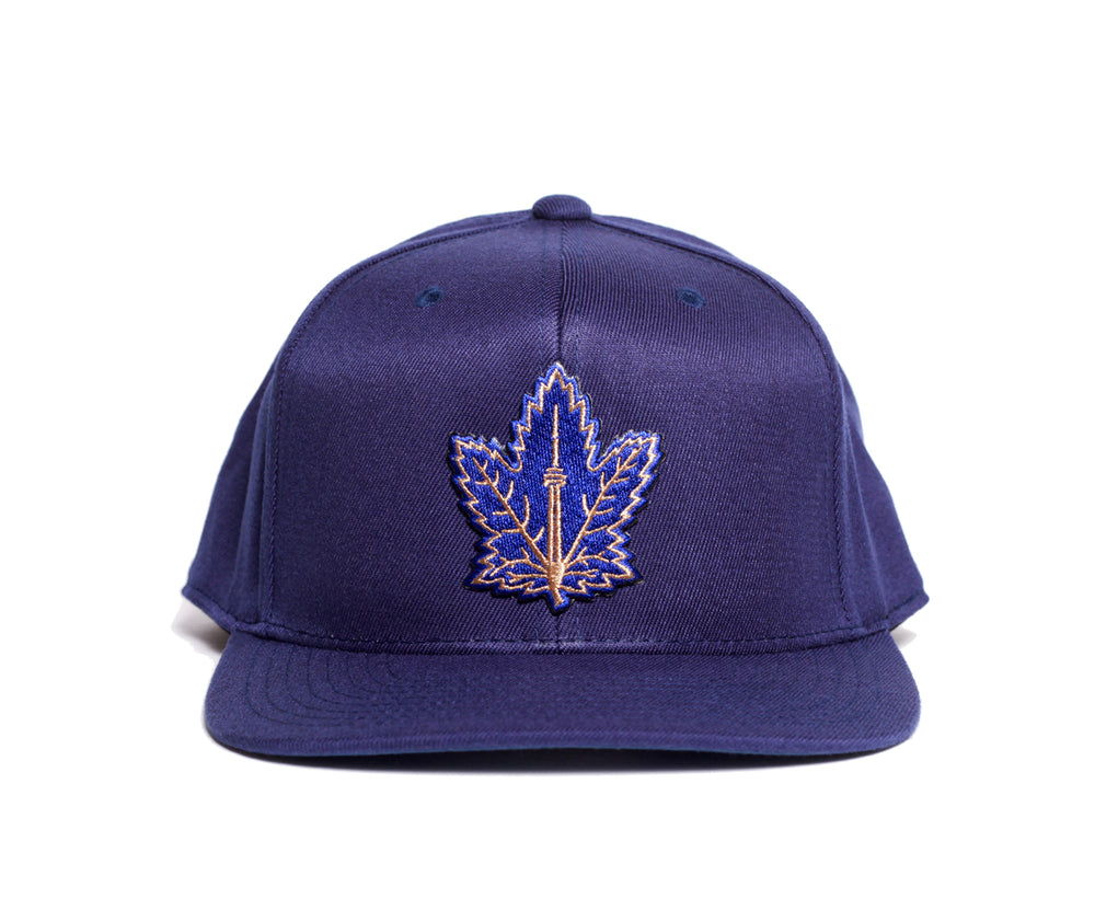 Champion Maple Leaf Snapback (Navy) - Brimzofficial
