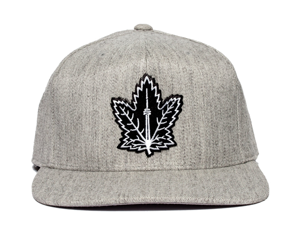 Champion Leaf Snapback (Heather Grey)