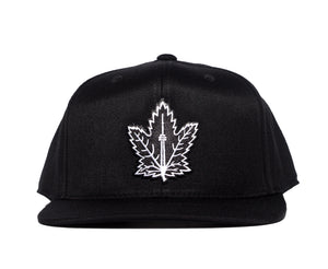 Champion Leaf Snapback (Black & White)
