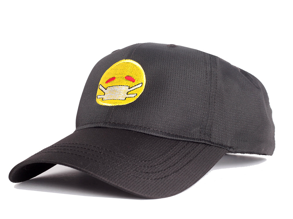 Corona Out Dad Hat (Black/Yellow)