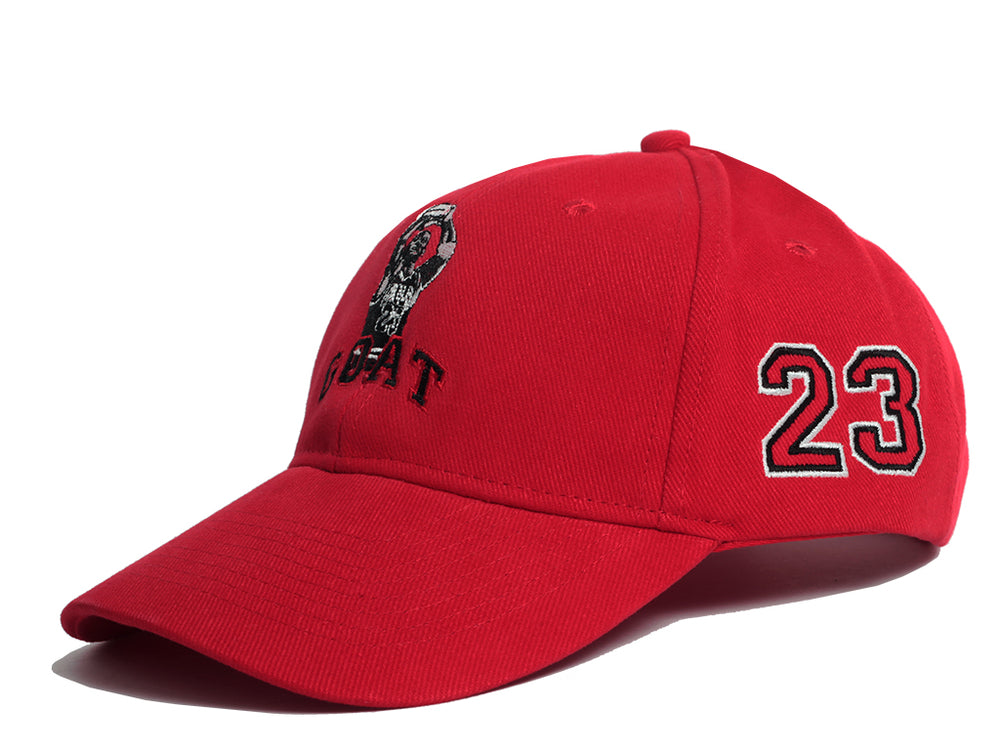 MJ Goat Dad Hat (Red)