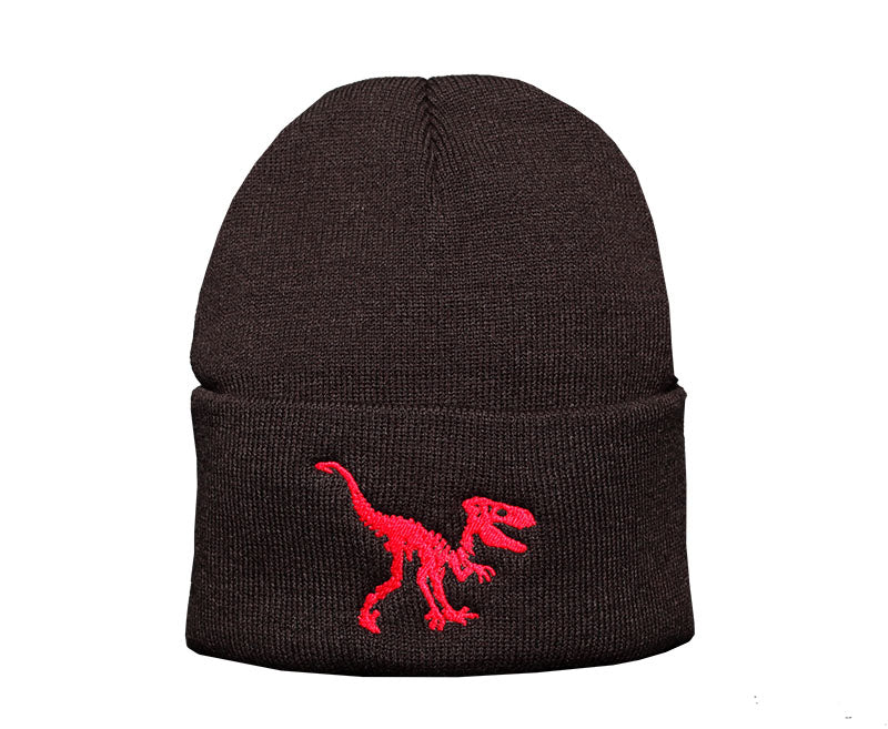 Savage Dino Beanie_BLK_Red
