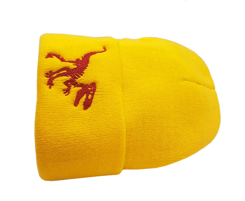 Savage Dino Beanie_Yellow_Red
