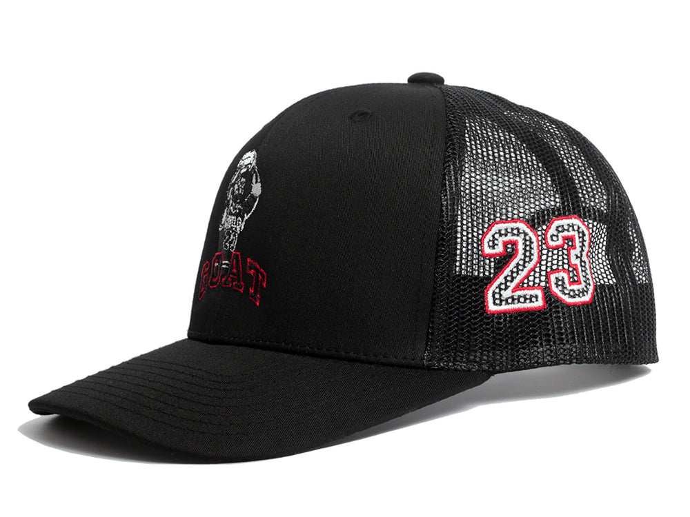 MJ Goat Mesh Trucker (Black)