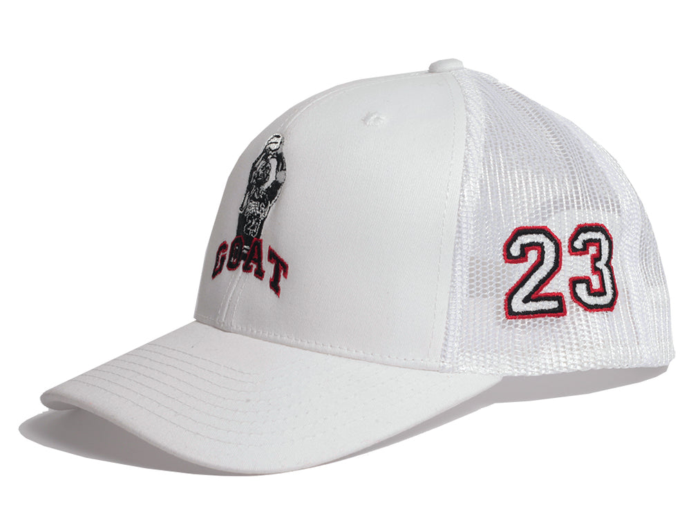 MJ Goat Mesh Trucker (White)