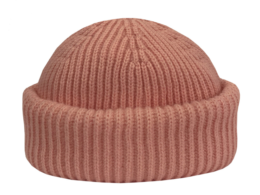 Merino Sailor Beanie - Rose Pink