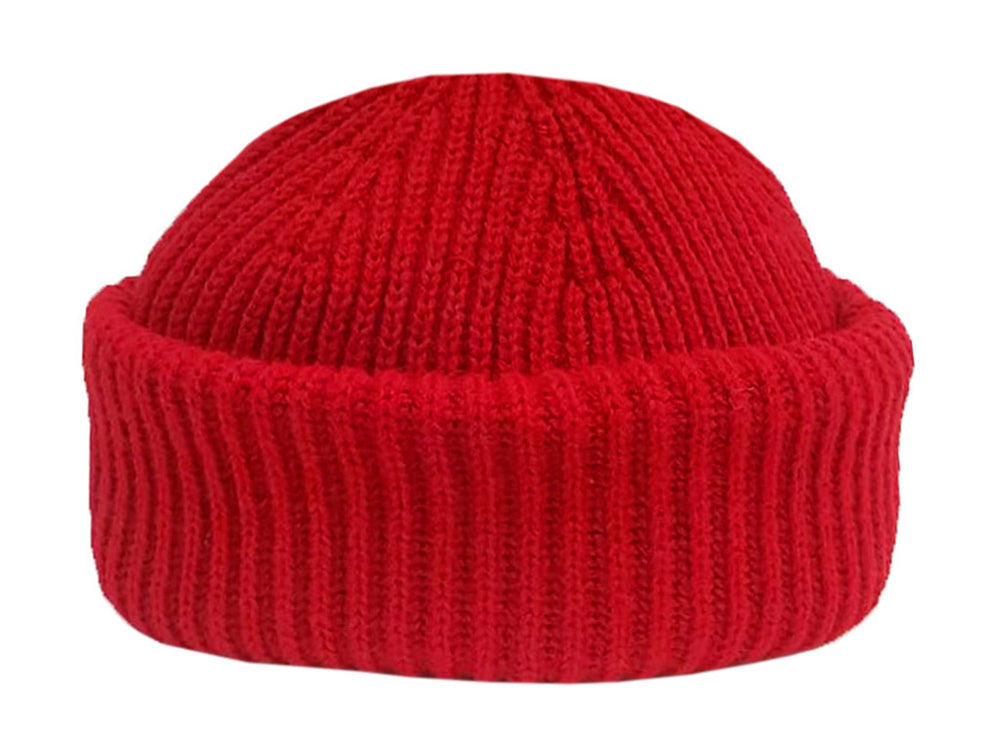 Merino Sailor Beanie - Red