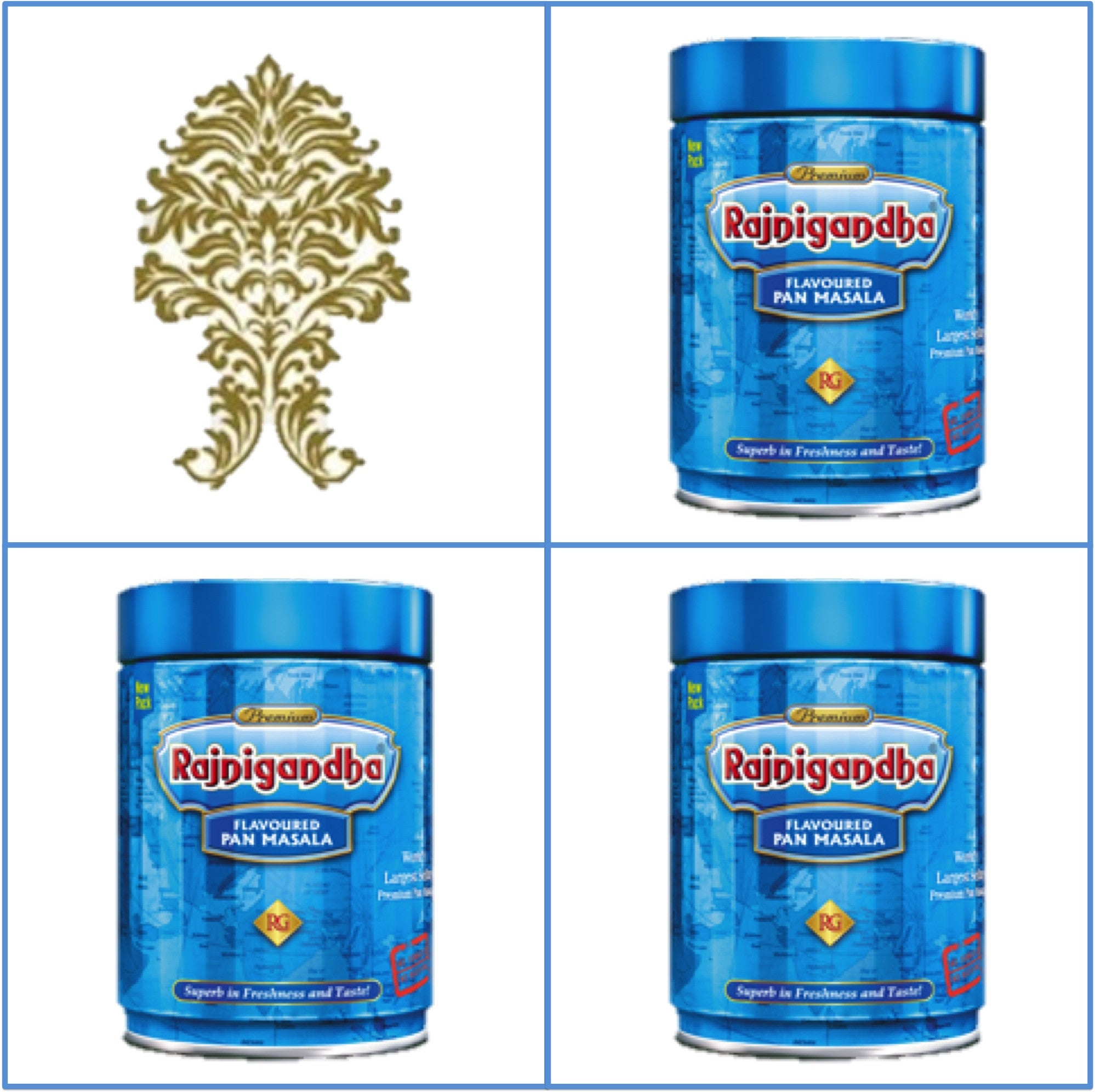 3 Cans  100g Rajnigandha Pan Masala  Export Quality  November 2018
