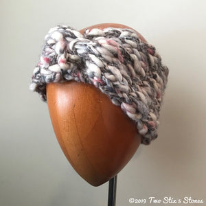 Creamy Pink Tweed w/Metallic Accents Turban Headband