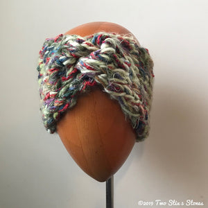 Green Tweed Turban Headband
