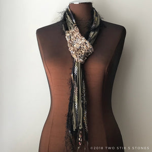 Natural Toned Adjustable Scarf