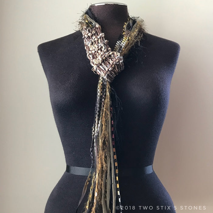 Neutral Toned Adjustable Scarf (AS019)