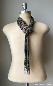 Brown/Olive Toned Adjustable Scarf/Tie