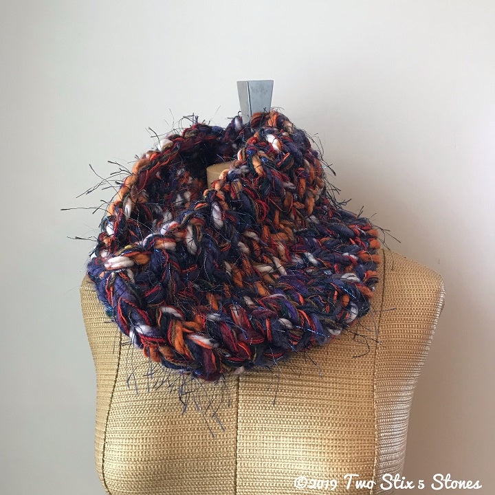 Orange & Purple Tones Cowl