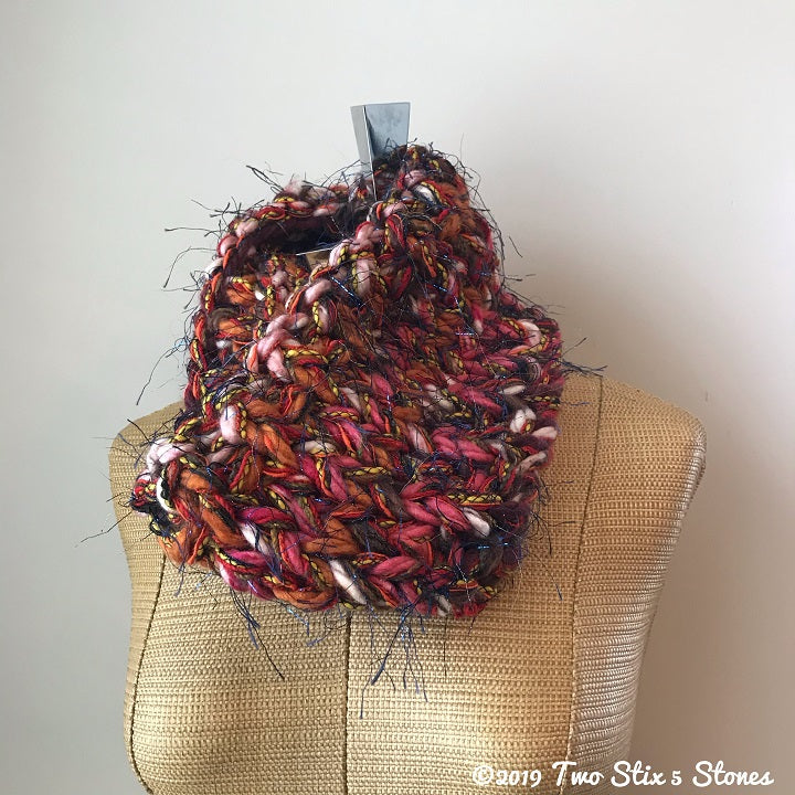 Pink & Orange Tones Cowl