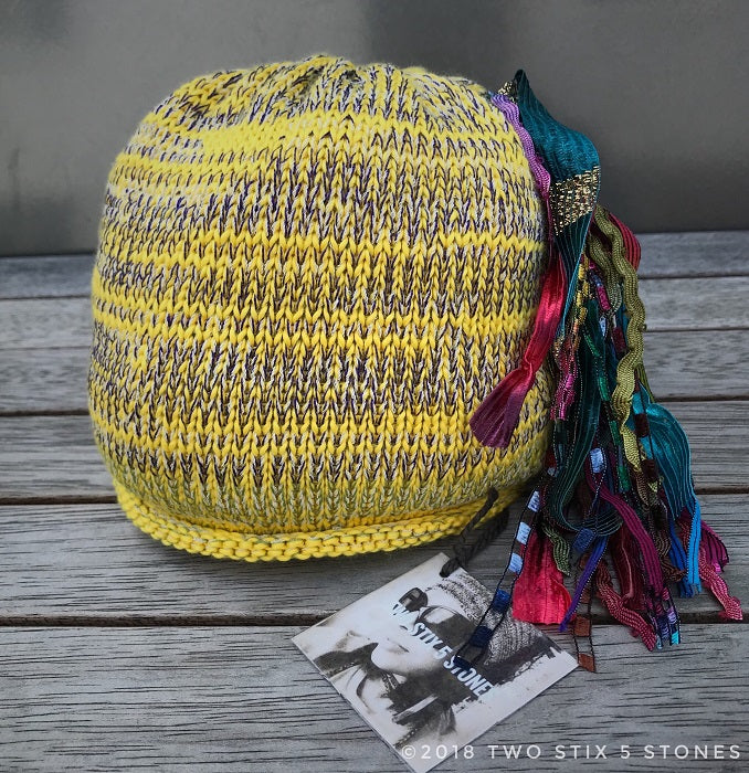Newborn Baby - Yellow Tweed *Funky Chic Hat* (BCF04)