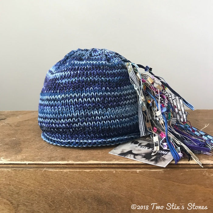 Blue Tweed Newborn *Funky Chic Hat* (BFC05)