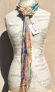 Multi-Textured Adjustable Fringe Scarf