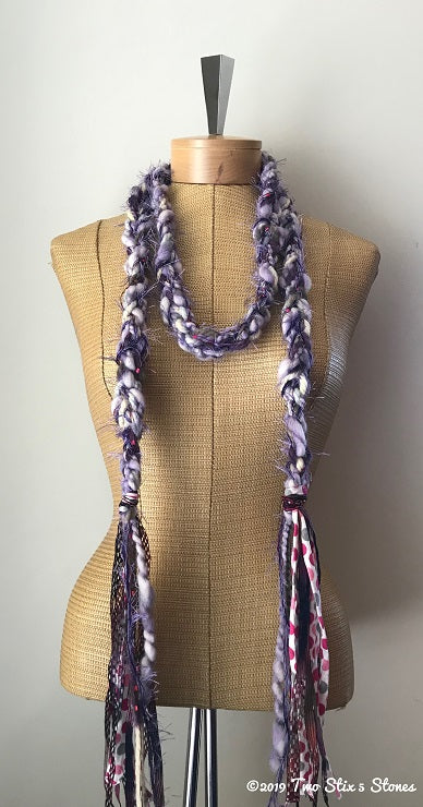Lavender Tweed Decorative Scarf/Belt
