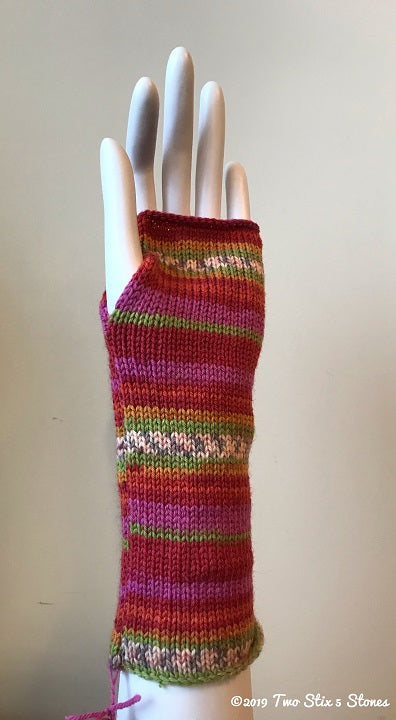 Pink/Orange/Green Fingerless Gloves