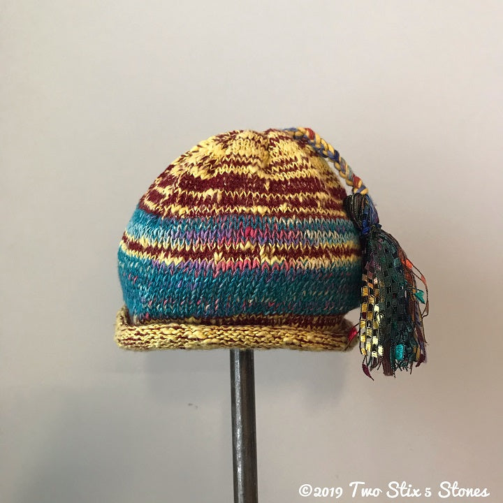 Infant - Yellow/Red/Blue Funky Tassel Hat