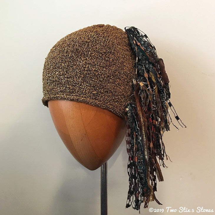 Luxe Gold Metallic Tweed Signature *Funky Chic Hat*