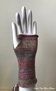 Pink & Tan Variegated Fingerless Gloves