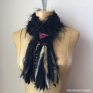 Black *Diva Chic Scarf* w/Button