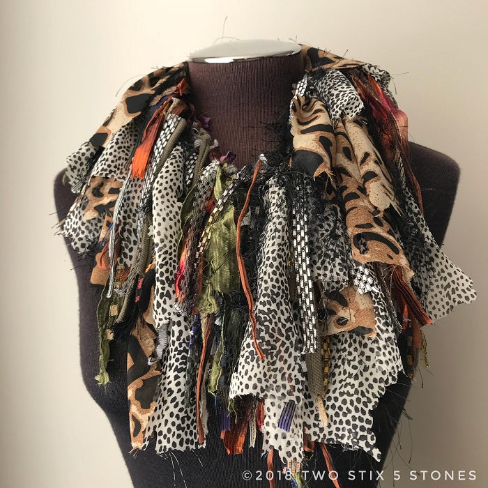 Brown/Grey/Black Toned Exotic Scarf (EXS004)