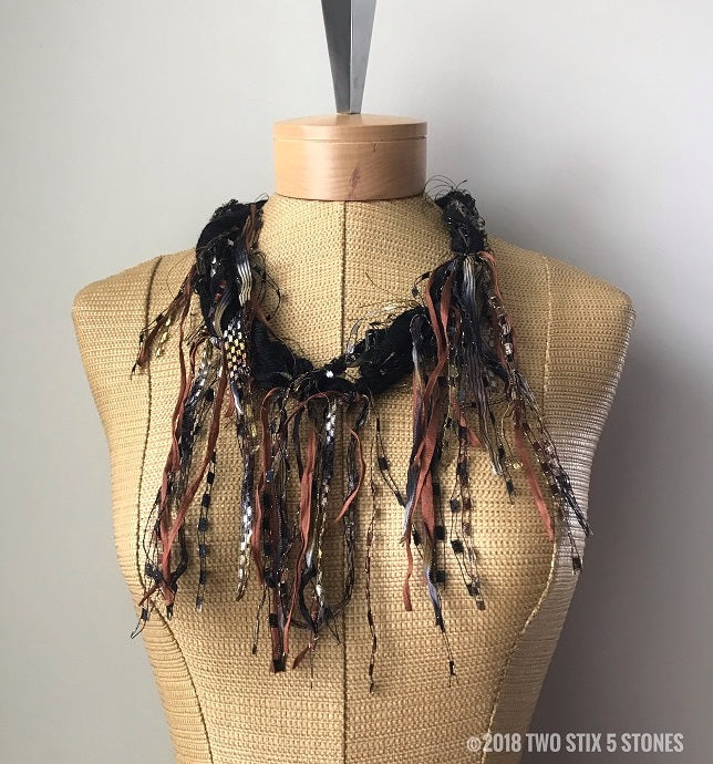 Funky Chic Fiber Necklace