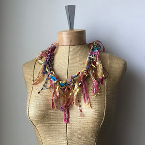 Colorful *Funky Chic* Fiber Necklace