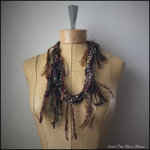 Chocolate *Funky Chic* Fiber Necklace