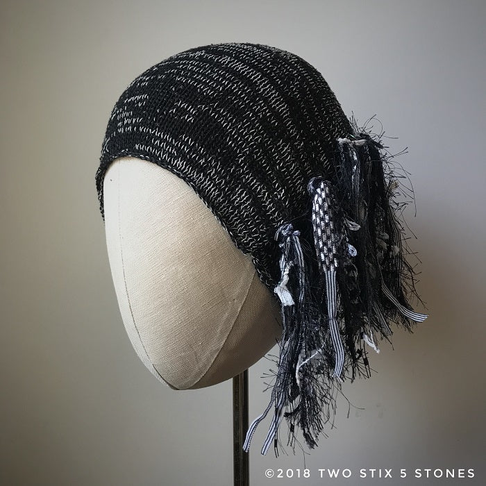 Black & White Tweed *Funky Chic Hat* (FCNA1)