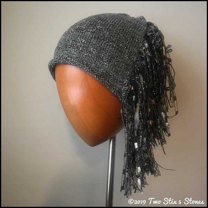 "Grey Tweed Signature ""Funky Chic Hat"""