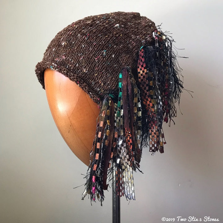 Chocolate Tweed Signature *Funky Chic Hat*