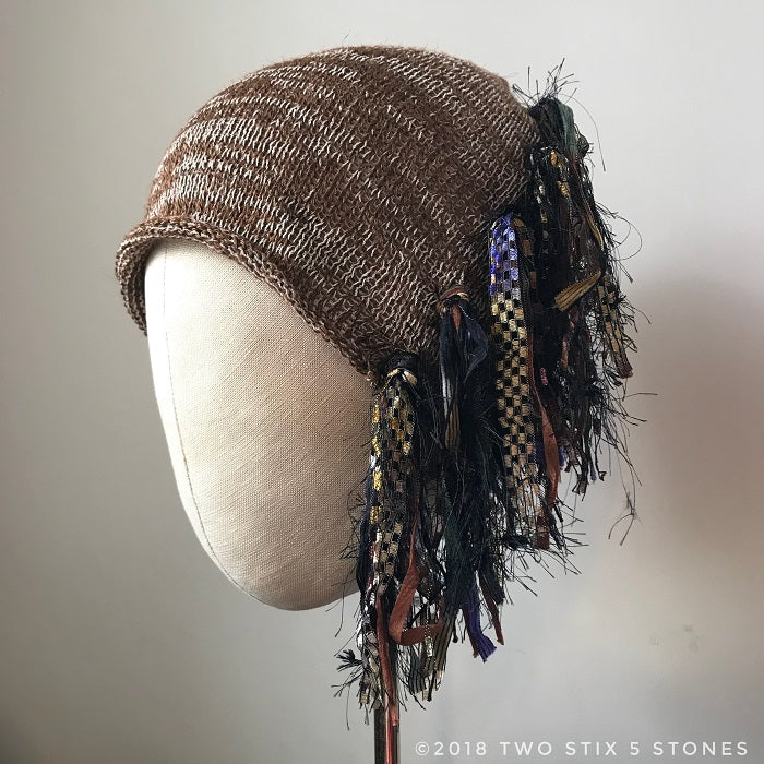 Chocolate & Brown Tweed *Funky Chic Hat* (FCNA15)