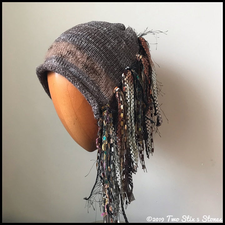 Tan Tweed Signature *Funky Chic Hat*