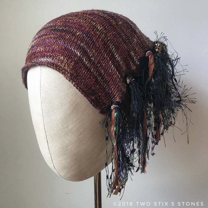Wine Multi-Tweed *Funky Chic Hat* (FCNA17)