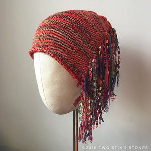 Red Tweed *Funky Chic Hat* (FCNA26)
