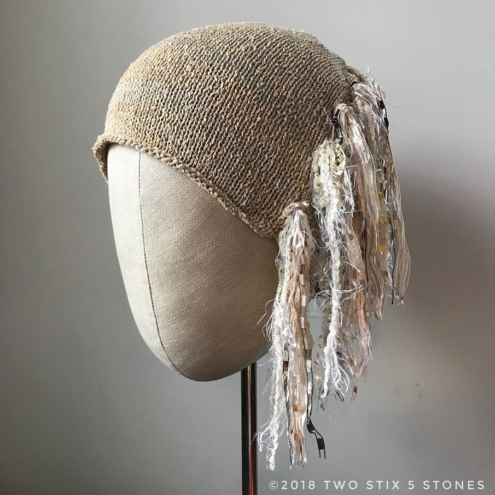 Beige Toned *Funky Chic Hat* (FCNA27)