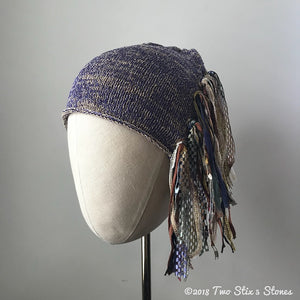 Brown & Purple Tweed *Funky Chic Hat* (FCNA29)
