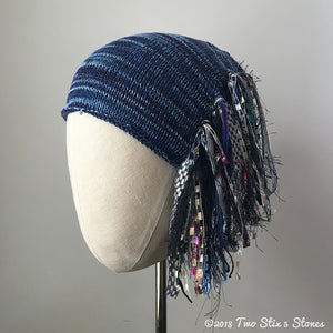 Blue Tweed *Funky Chic Hat* (FCNA32)