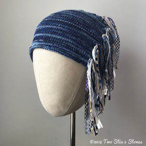 Blue Tweed *Funky Chic Hat* (FCNA33)