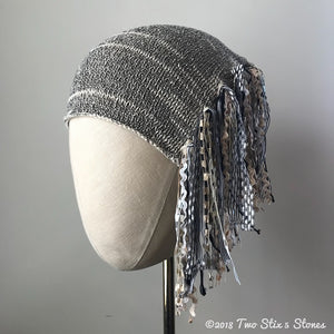 Natural & Black Tweed *Funky Chic Hat* (FCNA34)