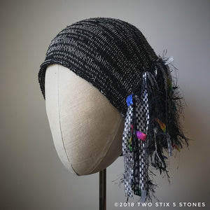 Black & White Tweed *Funky Chic Hat* (FCNA3)
