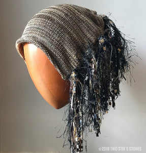 Khaki Tweed *Funky Chic Hat*