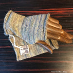 Grey Tweed Fingerless Gloves