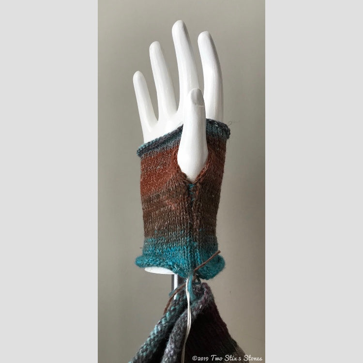 Natural Tones w/Tweed Accent Fingerless Gloves